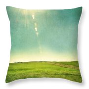 Sun Over Field Throw Pillow