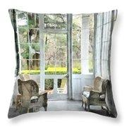 Sun Porch Throw Pillow by Susan Savad