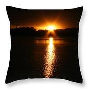 Sun Ray Throw Pillow