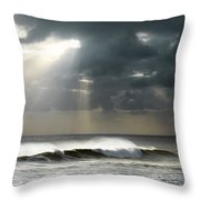 Sun Rays On Ocean Throw Pillow