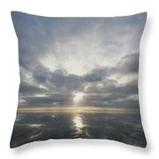 Sun Reflection Over Water, Wattenmeer Throw Pillow