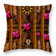 Sun Rose Garden Throw Pillow