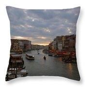 Sun Sets Over Venice Throw Pillow