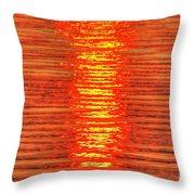 Sun Strings Throw Pillow