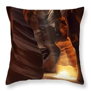 Sunbeam In Antelope Canyon Throw Pillow