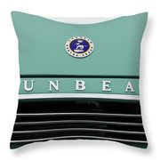 Sunbeam Rootes Group Vintage Car Throw Pillow