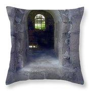 Sunbeam Stone And Shadows Throw Pillow