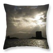 Sunbeams On Castle Stalker Throw Pillow