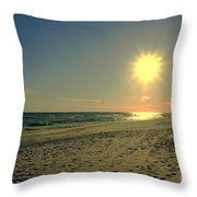 Sunburst At Henderson Beach Florida Throw Pillow by Susanne Van Hulst
