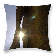 Sunburst Through Spire Throw Pillow