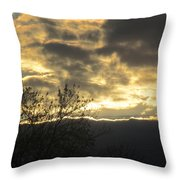 Sunday Autumn Sunset Two Throw Pillow