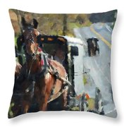 Sunday Ride Throw Pillow