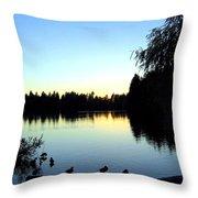 Sundown At Lost Lagoon Throw Pillow