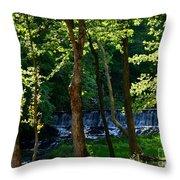 Sundown At The Falls Throw Pillow