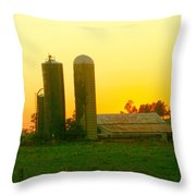 Sundown At The Ranch Throw Pillow