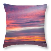 Sundown In Dunedin Throw Pillow