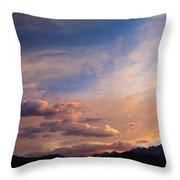 Sundown On The Sierras Throw Pillow