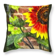 Sunflower 2 Sf2wc Throw Pillow