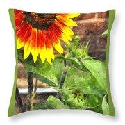 Sunflower 3 Sf3wc Throw Pillow