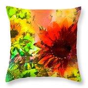 Sunflower 5 Throw Pillow