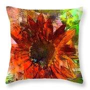 Sunflower 7 Throw Pillow