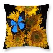 Sunflower Bouquet  Throw Pillow