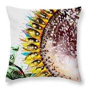 Sunflower Fish 3 Throw Pillow