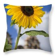 Sunflower In Balboa Park Throw Pillow