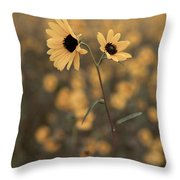 Sunflower In The Wild Throw Pillow