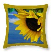 Sunflower One Throw Pillow