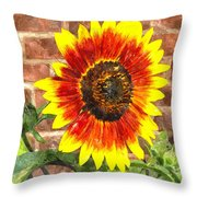 Sunflower Sfwc Throw Pillow