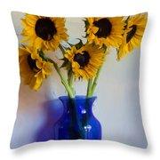 Sunflower Still Life Throw Pillow