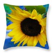 Sunflower Too Throw Pillow