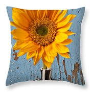 Sunflower Vase Throw Pillow by Garry Gay