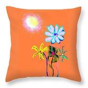 Sunflowered 3 Throw Pillow