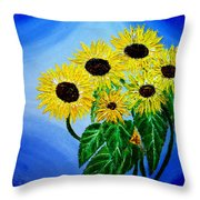 Sunflowers 1 Throw Pillow