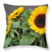 Sunflowers At Pikes Market Throw Pillow