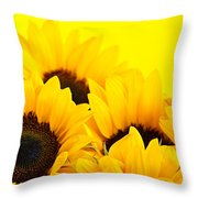 Sunflowers Throw Pillow by Elena Elisseeva
