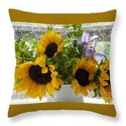 Sunflowers Four Throw Pillow
