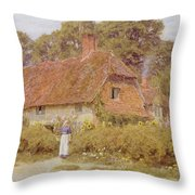 Sunflowers By Helen Allingham Throw Pillow