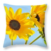 Sunflowers Sky Throw Pillow