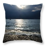 Sunlight And Waves Throw Pillow
