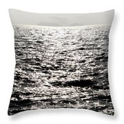 Sunlight On A Lake With Islands Throw Pillow