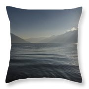 Sunlight Over An Alpine Lake Throw Pillow