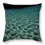 Sunlight Reflected In The Water Throw Pillow