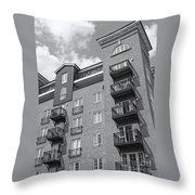 Sunny Black And White Day Throw Pillow