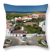 Sunny Day At Ribeirinha Throw Pillow