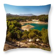 Sunny Day In El Chorro. Spain Throw Pillow