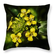 Sunny Floret Throw Pillow