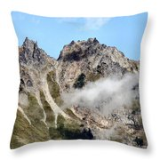 Sunny Mountain Afternoon Throw Pillow